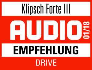 KLIPSCH FORTE III AUDIO Empfehlung 2018