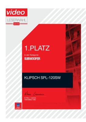 Klipsch R-120SW Subwoofer Video Leserwahl 08/2019